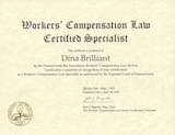 Dina Brilliant - Workers' Compensation Law Certified Specialist